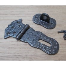 Hasp And Staple Antique Iron Cast Iron
