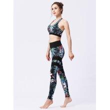 Women's Breathable Printed Sports Bra & Leggings for Yoga