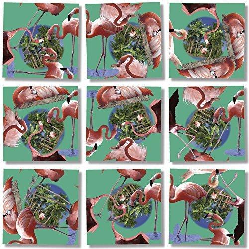 B Dazzle Flamingos Scramble Squares 9 Piece Puzzle