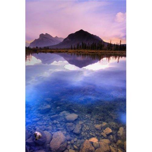 Vermilion Lakes Mount Rundle Banff National Park Alberta Canada Poster Print by Carson Ganci, 22 x 34 - Large
