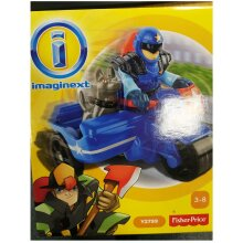 Fisher Price X7617 Imaginext City Police Figure with Motorcycle and Dog Playset Toy