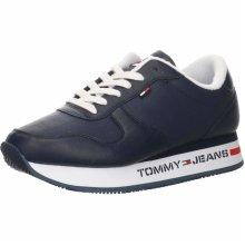 Tommy Hilfiger Women's Blue Flatform Runner Sneakers