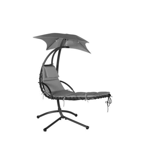 (Grey) Deluxe garden helicopter chair