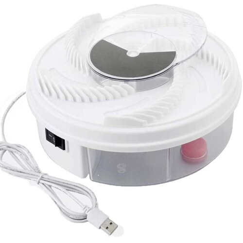 Electric Full-automatic Fly Trap Device Insect Catcher Low Noise Rotating Trap Pest Reject Control