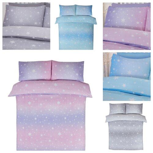 Bedding Heaven® STARBURST Reversible Flannelette Sheets + Duvet Covers