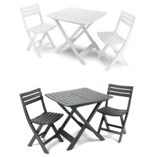 idooka Outdoor Garden Patio Balcony 3 Piece Camping Furniture Set for Two Adults Bistro with Lightweight Fold Away Folding Compact Table and 2 Chairs