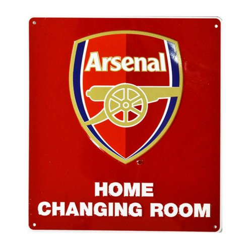 Arsenal FC Official Metal Home Changing Room Football Bedroom Sign