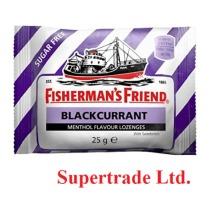 12 X Fisherman's Friend Sugar Free Blackcurrant Menthol Lozenges Sweeteners - 25g
