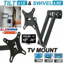 TV Wall Bracket Mount Tilt Swivel For 10 15 20 22 25 26 Inches 3D LED