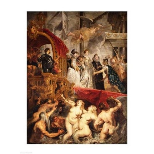 Posterazzi BALBAL2995LARGE The Arrival of Marie De Medici in Marseilles 3Rd November 1600 Poster Print by Peter Paul Rubens - 24 x 36 in. - Large