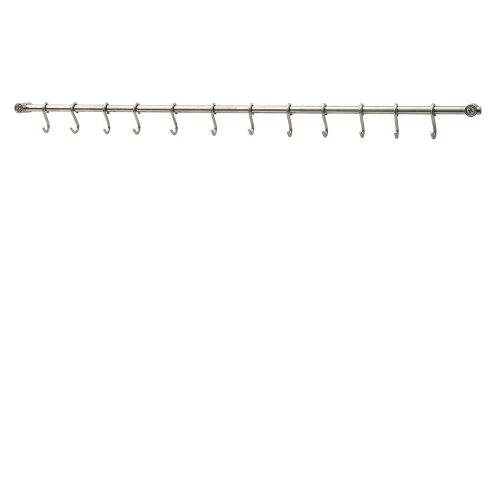 Kabalo Stainless Steel Kitchen Utensils Rack Rail Holder - 78cm with 12 S Hooks