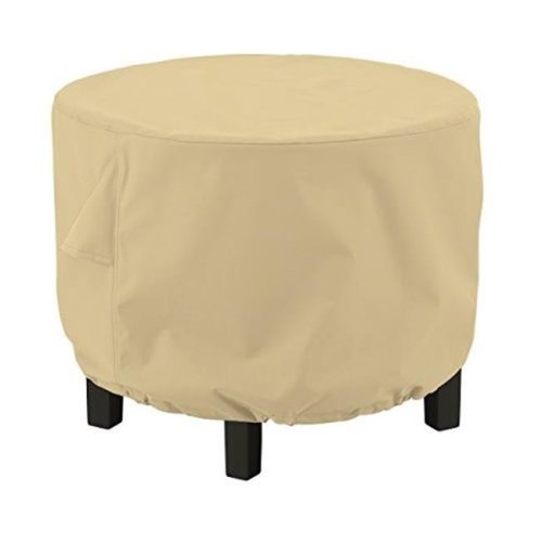 Large Ottoman & Side Table Round, Sand - Case of 12