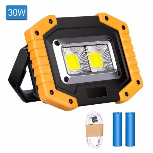 2X 30W LED Floodlight PIR Sensor Outdoor Super Bright Garden Security SpotLights