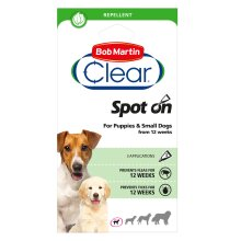 Bob Martin Clear Flea & Tick Spot On For Puppies & Small Dogs