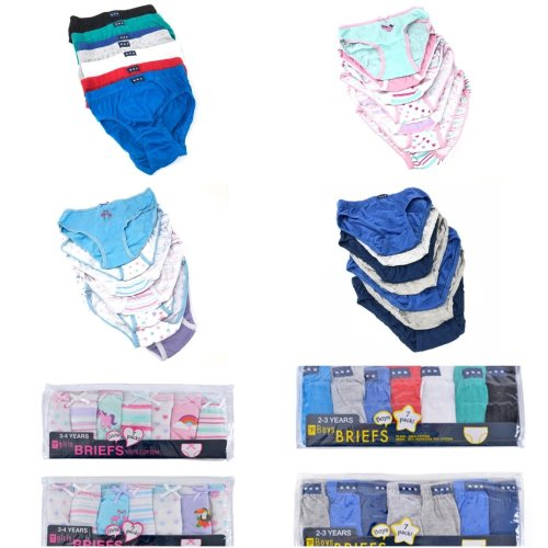 7 Pack Children/'s Toddlers Pants Knickers Briefs Boys 100/% Cotton Age 7-8 Years