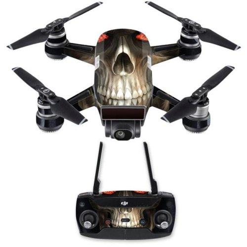 Mightyskins DJSPCMB-Evil Reaper Skin Decal for DJI Spark Mini Drone Combo Sticker - Evil Reaper