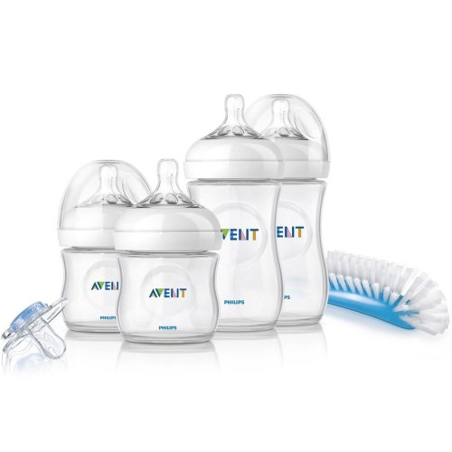 Philips Avent Natural Newborn Starter Set SCD290/01 | Baby Bottle Set