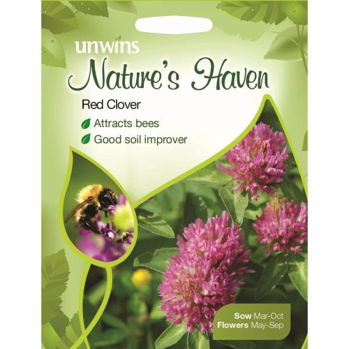 Unwins Grow Your Own Natures Haven Red Clover Seeds Attracts Bees