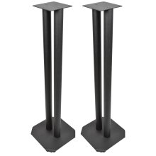 2 x Black Universal Floorstands / Speaker Stands Surround Sound Book Shelf 80cm
