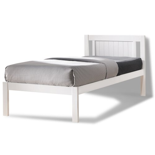 (3FT Single) Glory Wooden Slatted Bed Frame in White FRAME ONLY