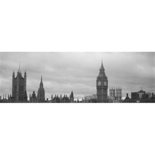 Buildings in a city  Big Ben  Houses Of Parliament  Westminster  London  England Poster Print by  - 36 x 12
