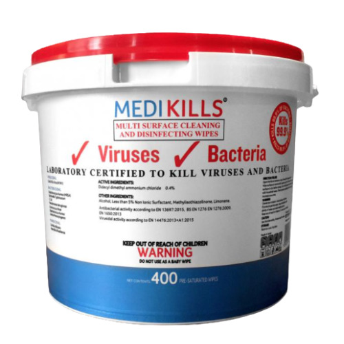 Medikills 400 Anti-Bacteria Wipes Kills 99.9% Of Bacteria