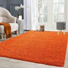 Abaseen Shaggy Thick Luxurious Soft Rug- Orange