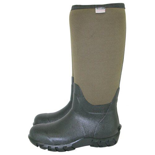 Town & Country Wellington Boots, High Grip Tread, The Buckingham, Green - Size 4
