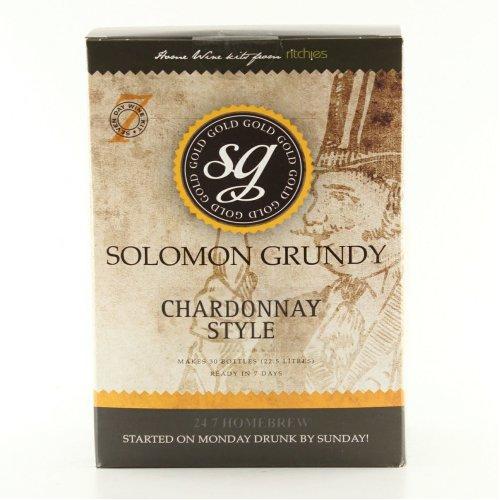 Solomon Grundy Gold Chardonnay 7 Day (30 Bottle) White Wine Making Kit - Homebrew