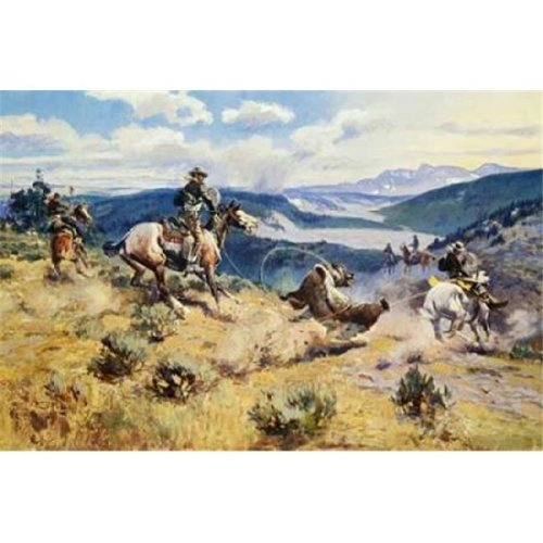 Loops & Swift Horses Are Surer Than Lead Poster Print by Charles M. Russell, 24 x 36 - Large