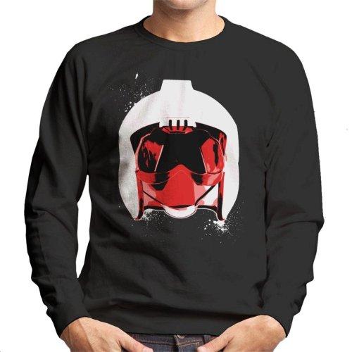 Original Stormtrooper Rebel Pilot Helmet White Paint Splatter Men's Sweatshirt
