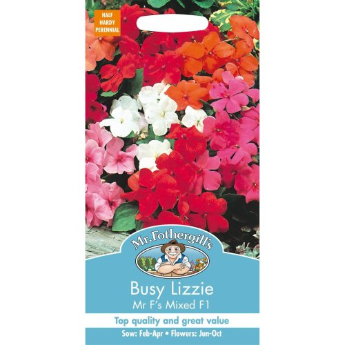 Mr Fothergills - Pictorial Packet - Flower - Busy Lizzie Mr.F's Mixed F1 - 40 Seeds