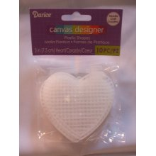 "Darice ""Canvas Designer"" 3"" Plastic Canvas Hearts - Pack of 10"