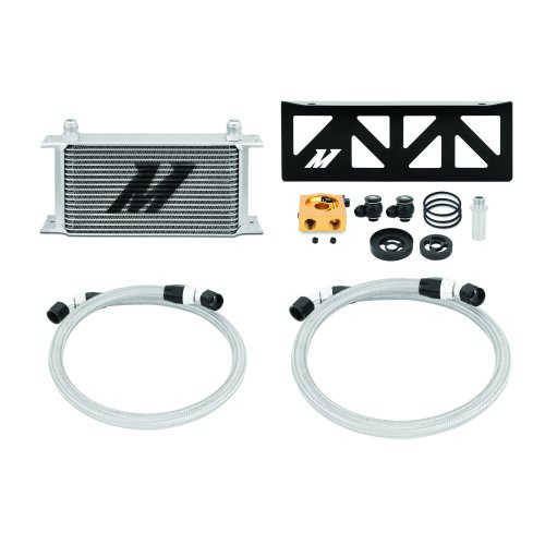 Mishimoto Oil Cooler Kit Thermostatic Fits Subaru BRZ Scion FR-S 2013+ Silver