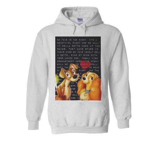 Lady and the Tramp Pasta Love White Men Women Unisex Hooded Sweatshirt Hoodie