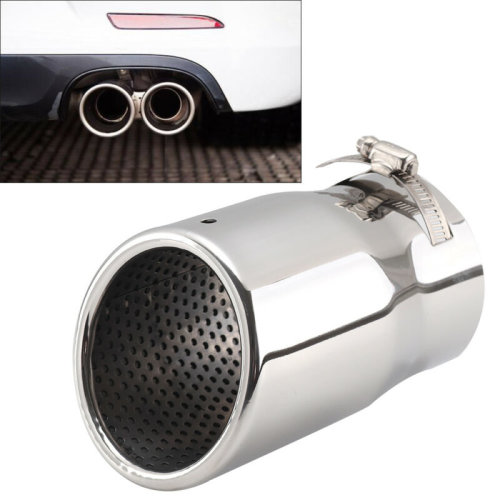 3.5' Car Exhaust Pipe Tip Muffler Vehicle Stainless Steel Chrome Trim