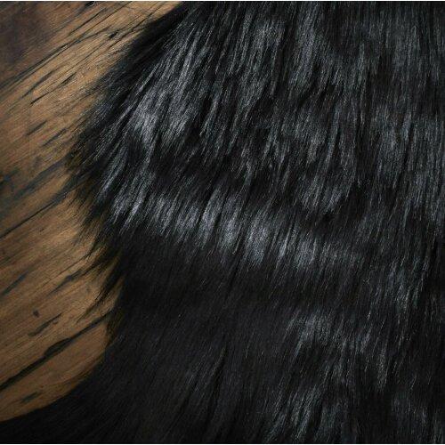 (Black) Faux Fur Sheepskin Rugs Floor Carpet Mat Shaggy