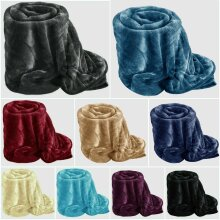 Faux Fur Soft Mink Fleece Warm Large Sofa Bed Blanket