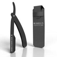 Cut Throat Razor Black - Includes Travel Pouch & 10 Blades