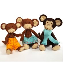 Corinne Lapierre Felt Mouse Family Sewing Craft Kit