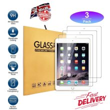 (3 Pack) Ultra Clear 9H Anti Shatter Anti Fingerprint Scratch Resistant HD Tempered Glass Screen Protector for Apple iPad 2/3/4 2nd 3rd 4th Generation