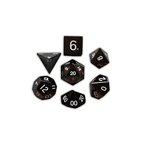 Set Of 7 Drow Black Full Metal Polyhedral Dice By Norse Foundry Rpg Math Games Dnd Pathfinder On Onbuy Norse foundry set of 7 spellbound full metal polyhedral dice rpg math games dnd pathfinder. onbuy