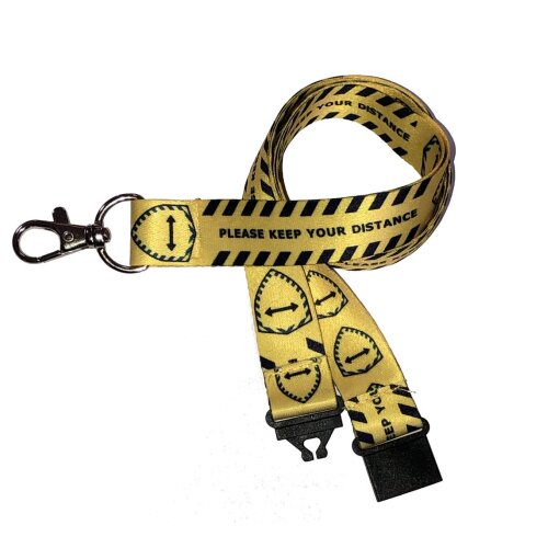 Keep Your Distance Covid 19 Lanyard | 20mm