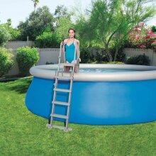 Bestway 4-Step Swimming Pool Safety Ladder Flowclear 132cm Spa Tub Frame Stair
