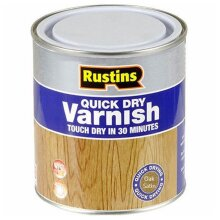 Rustins Quick Dry Coloured Varnish Satin Oak 500ml