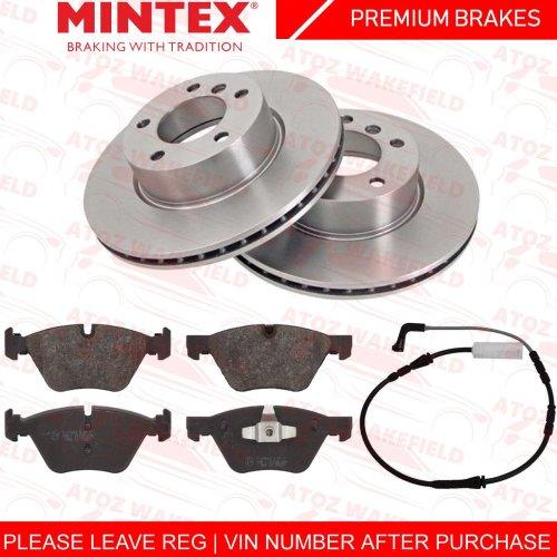 FOR BMW 320d E90 E91 E92 E93 FRONT MINTEX BRAKE DISCS PADS WEAR WIRE PREMIUM