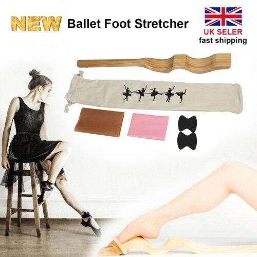 Ballet Foot Stretch Wooden Stretcher Arch Enhancer Elastic Band Dance Gym Gifts