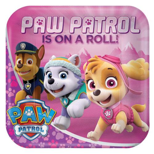 Pink Paw Patrol Party Plates 8pk