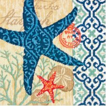 "Dimensions Needlepoint Kit 14""X14""-Starfish Stitched In Wool & Thread"