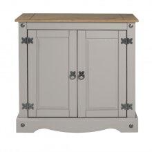 Corona Grey Wax 2 Door Cupboard  Sideboard Solid Pine Furniture